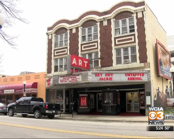 Art theater marquee