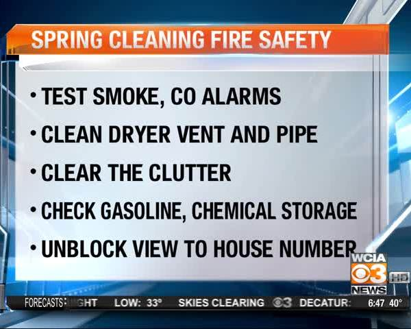 SPRING CLEANING AND FIRE SAFETY