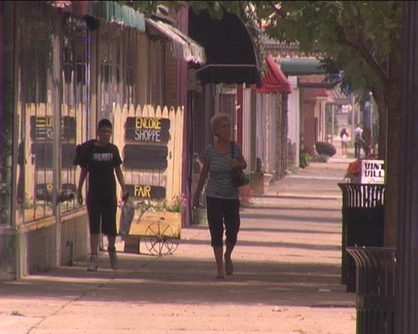 danville city sidewalk shopping