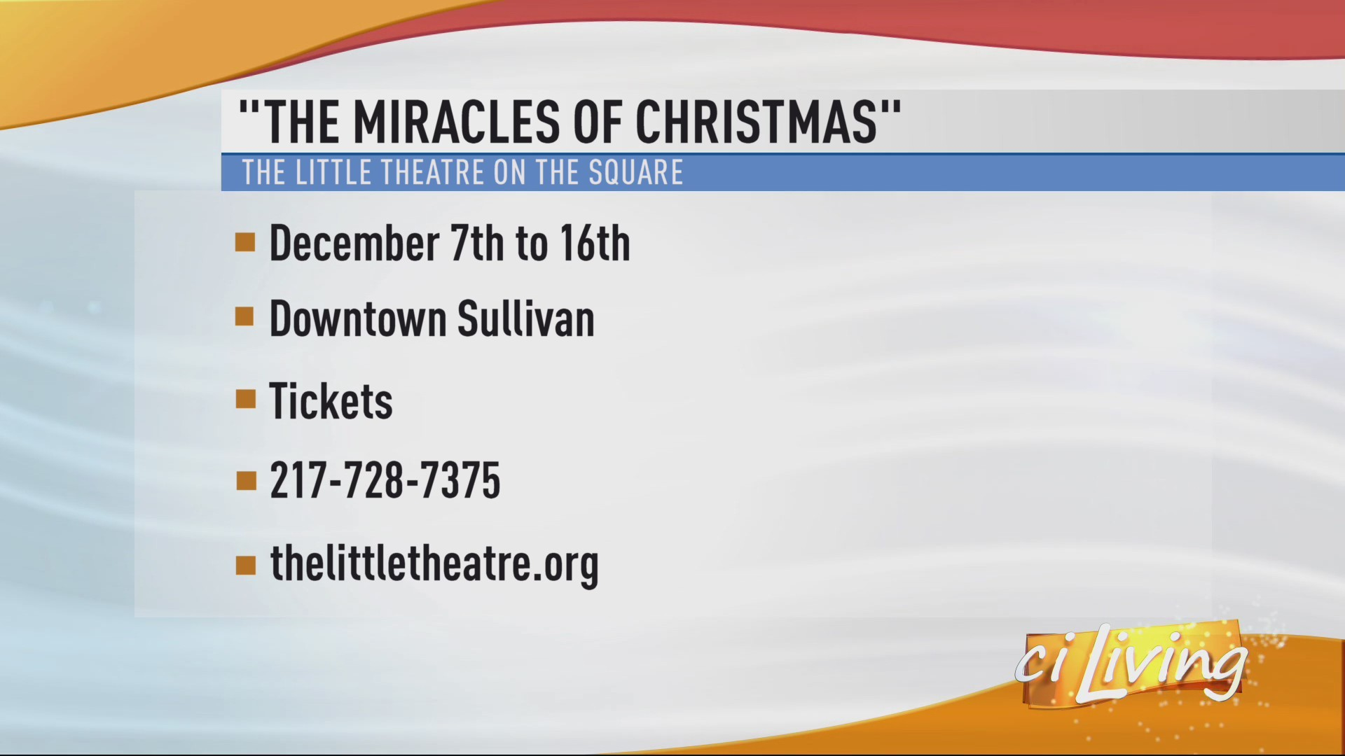The Little Theatre on the Square Holiday Musical