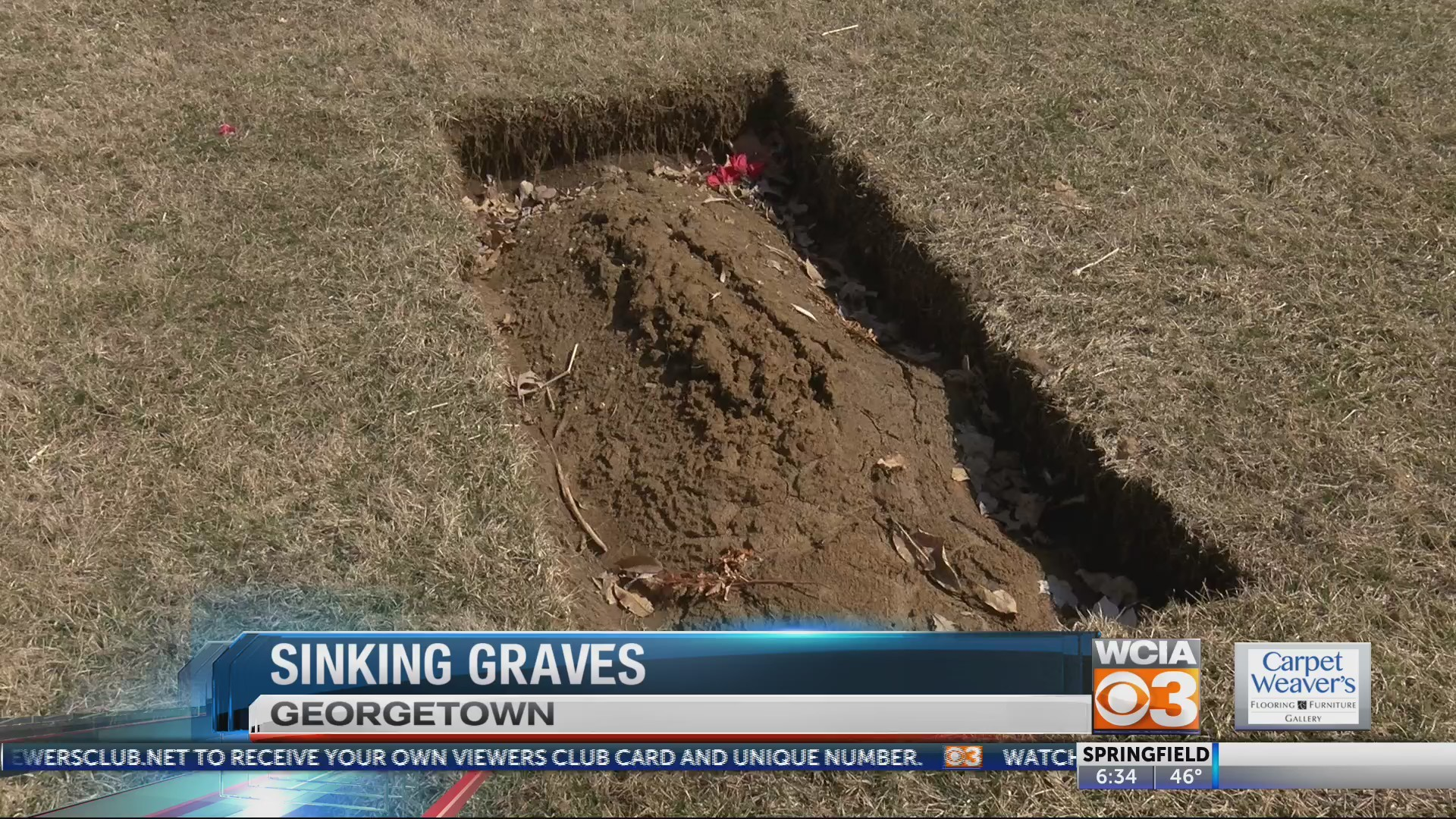 Sinking graves