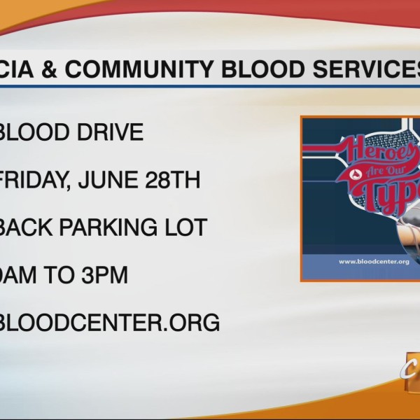 CILIVING WCIA and Community Blood Services of Illinois Drive June 28th