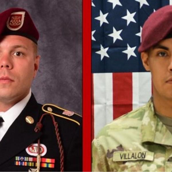 Staff Sgt. Ian Paul McLaughlin and Pfc. Miguel Angel Villalon